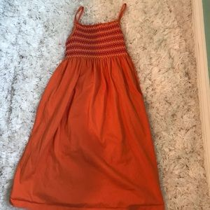 Girls Orange Maxi Dress